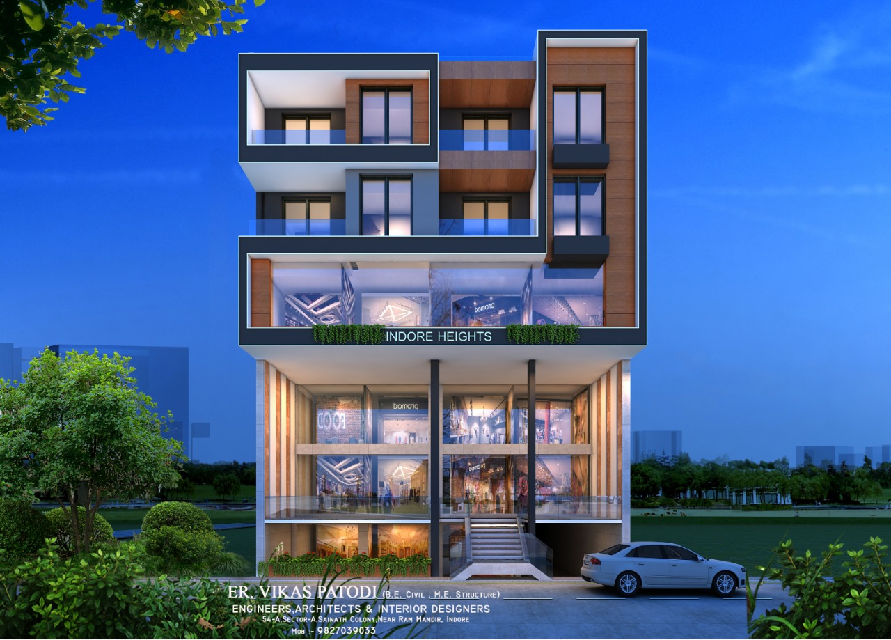 Commercial and Residential project of Indore Hight's